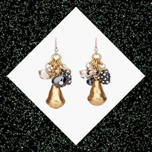 Chico's Isa Mixed Metals Cluster Drop Earrings